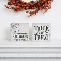 Happy Halloween Shelf Blocks (Set of 2)