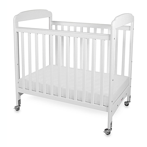 Foundations serenity compact fixed side clearview crib for Double decker crib