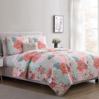 VCNY Home Jodi King Quilt Set in Pink/Tan