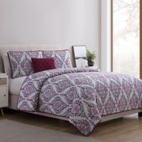VCNY Home Lyndon Twin XL Quilt Set in Purple
