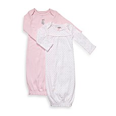 Carter's® 2-Pack Pink/White Sleeper Gowns