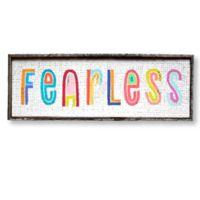 "Silly Good ""Fearless"" 8-Inch x 24-Inch Framed Wall Art"