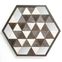 Geometric Wood and Mirror Wall Art