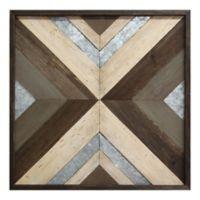 Geometric Wood and Metal Wall Art