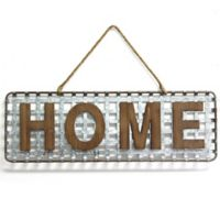 """Home"" Basket-Weave Wall Sign"