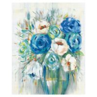 Cobalt Bouquet 30-Inch x 40-Inch Canvas Wall Art