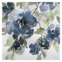 Belle's Blue I Indigo 24-Inch Square Canvas Wall Art