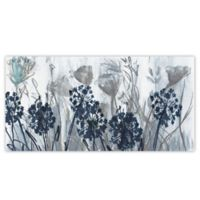 Indigo Field 24-Inch x 12-Inch Canvas Wall Art