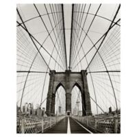 "Masterpiece Art Gallery Danita Delimont Brooklyn Bridge 40"" x 30"" Canvas Wall Art"