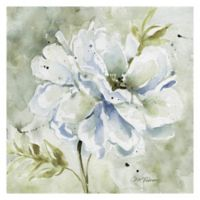 Grey Dahlia and Peony 16-Inch Square Canvas Wall Art