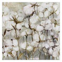 Cotton Field 35-Inch Square Canvas Wall Art