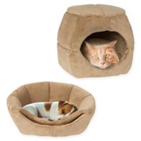 PETMAKER 2-in-1 Convertible Pet Bed in Tan