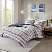 Urban Habitat Cole Jersey Knit 3-Piece Full/Queen Comforter Set in Navy