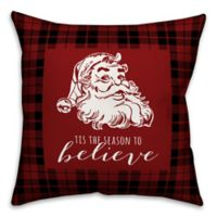 Designs Direct Tis The Season Square Throw Pillow in Red