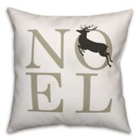 """Designs Direct """"Noel"""" Square Throw Pillow in Brown"""