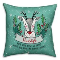 Desigsn Direct Mid-Century Modern Rudolph Square Throw Pillow