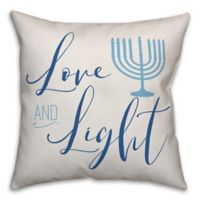"Designs Direct ""Love and Light"" Square Throw Pillow in Blue"