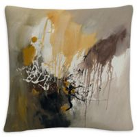 Abstract Square Throw Pillow in Grey