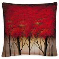 Serenade Square Throw Pillow in Red