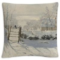 The Magpie Square Throw Pillow in Grey
