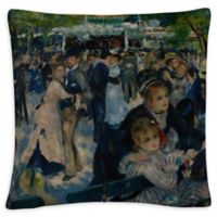 Le Moulin Square Throw Pillow in Black