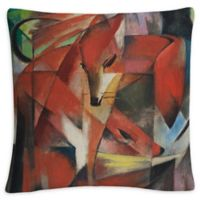 The Fox Square Throw Pillow in Red