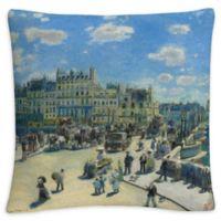 Paris Square Throw Pillow in Blue