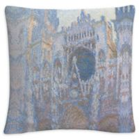 Cathedral Square Throw Pillow in Grey