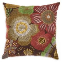kathy ireland Home® by Nourison Rust Flower Square Throw Pillow
