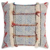 Mina Victory Lifestyles Diamonds Stonewash 20 x 20 Throw Pillow in Multicolor