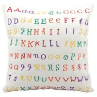 Mina Victory Repeated Alphabet Throw Pillow in Beige