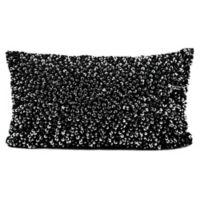 Michael Amini Sequins and Beads Oblong Throw Pillow in Black