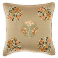 Mina Victory Embroidery Square Throw Pillow in Sage