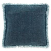 Mina Victory Stonewash Fringe Throw Pillow in Indigo