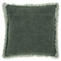 Mina Victory Stonewash Fringe Throw Pillow in Green