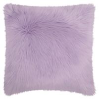 Mina Victory Faux Fur Throw Pillow in Lavender