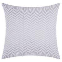 Mina Victory Chevron Square Throw Pillow in Silver
