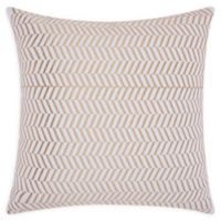 Mina Victory Chevron Square Throw Pillow in Gold