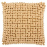 Mina Victory Pom Square Throw Pillow in Caramel
