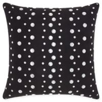 Mina Victory Raindrops Square Throw Pillow in Black