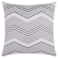 Mina Victory Thin Chevron Square Throw Pillow in Silver