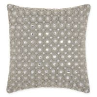 Kathy Ireland Marble Beads Square Throw Pillow in Silver