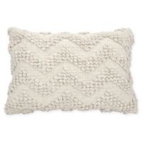 Mina Victory Loop Chevron Oblong Toss Pillow in Ivory