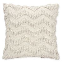 Mina Victory Loop Chevron Square Toss Pillow in Ivory