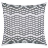 Mina Victory Chevron Square Throw Pillow in Silver