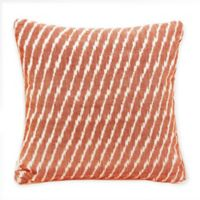 Mina Victory Life Styles Ikat Square Throw Pillow in Orange