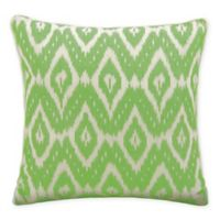 Mina Victory Life Styles Ikat Square Throw Pillow in Green