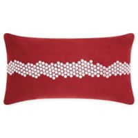 Mina Victory Wavy Stones Oblong Throw Pillow in Burgundy