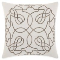 Kathy Ireland Beaded Infinity Square Throw Pillow in Pewter