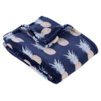 Berkshire Blanket® Pineapple Throw Blanket in Navy